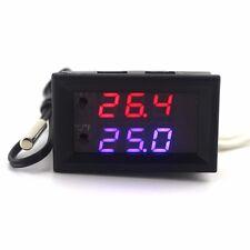Thermostat LCD 12V  -50 à +100°C - Sonde déportée - Sortie Relais - Notice FR