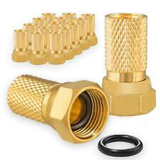 50 x F-Stecker F Stecker massiv Vergoldet für Koaxkabel Antennen Kabel
