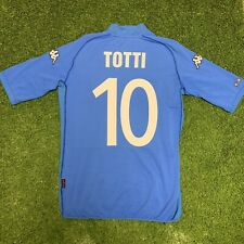 2002 Italy Totti Jersey Shirt Kit Kappa Combat 10 Blue Home World Cup Medium M
