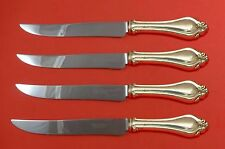 La Perle by Reed and Barton Sterling Silver Steak Knife Set Texas Sized Custom