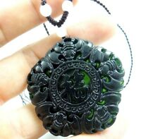 Beautiful 100% Chinese jade hand-carved the statue of blessing PENDANT E-6