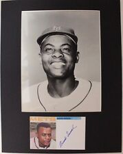 AMADO SAMUEL 1964 New York Mets Autograph & 8x10 Photo Matted for Framing16G