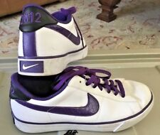 NIKE 2012 Men's Size 7.5 Shoes White Purple Trim Leather YEAR OF THE DRAGON