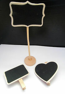 Mini Chalkboards w/ peg for weddings / parties - Guest placement or for messages