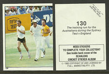 AUSTRALIA 1983 SCANLENS CRICKET STICKERS SERIES 2 - SCG TEST TRAINING RUN #130