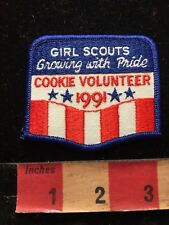 Vtg 1991 Girl Scouts COOKIE VOLUNTEER Patch 85YI