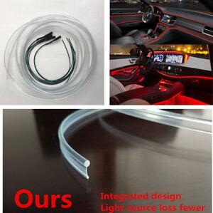 Car Interior Door Center Console Gap Decoration Light Red LED 4M Optical Fiber
