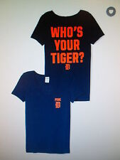 """Victorias Secret Pink MLB Detroit Tigers """"Who's Your Tiger"""" Shirt Small New + FS"""