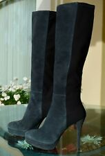Stuart Weitzman Stretch Suede Over-the-Knee Boot Gray Size US10 M