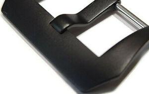 Breitdornschließe, Dornschließe Edelstahl Schwarz gebürstet in  18mm, 20mm,22mm