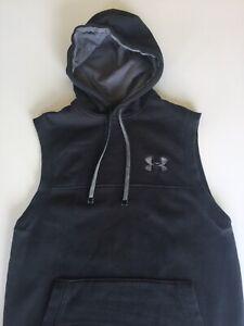Under Armour Men's Sleeveless Hoodie Size Medium Black and Grey