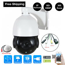 Sony 4.5'' 30X Zoom 1080P 2MP Outdoor HD PTZ IP Speed Dome Camera Outdoor Audio
