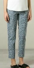 GUC TORY BURCH women's tonal print multicolor crop mid rise jeans US28