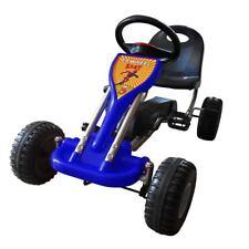 vidaXL Gokart Pedal Kinderfahrzeug Tretauto Rennkart Gocart Blau/Rot/Gelb