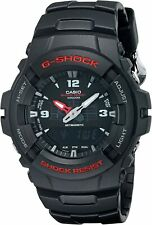 NEW Mens Casio G-100 5158 G100 G Shock Resist Black Resin Sport Watch