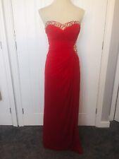 ASOS Lipsy VIP Red Sequin Embellished Long Maxi Evening Dress Sz 8 Prom Quiz?