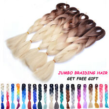 """1 PCS 24"""" Jumbo Braids Hair Ombre Brown Color Synthetic Braiding Hair Extensions"""