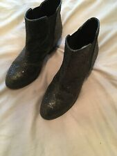 Faith Glitter Boots Size 6
