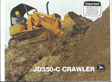 JOHN DEERE JD350-C CRAWLER 12 page sales brochure