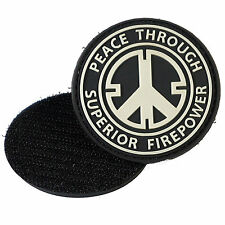Peace Through Superior Firepower PVC Morale Patch 3D Badge Hook #09
