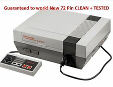 Nintendo Entertainment System Deluxe Gray Console With New 72 Pins