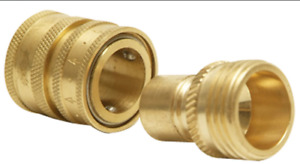 Python 49F Brass Snap Connector attaches No Spill Clean and Fill aquarium system
