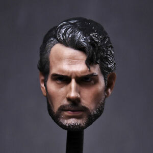 "1/6 Superman Henry Cavill Head Sculpt Model Hot Toys For 12"" Male Figure Body"