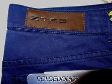 NEW $580 men ETRO MILANO 30 Waist JEANS PANTS ITALY COBALT BLUE Thin Cotton