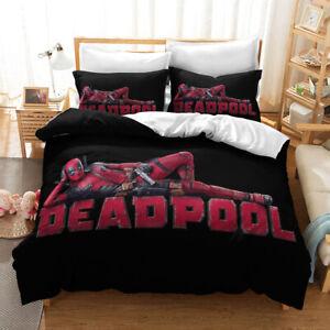 Funny Deadpool Bedclothes Set Wade Winston Bedding Set Duvet Covers Pillowcase W