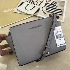 Genuine Michael Kors Selma Messenger medium Crossbody Bag pearl grey Uk stock