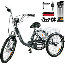36V12AH Electric 3 Wheel 7 Speed Tricycle E-Trike Adults Unisex EBIKE E-Tricycle