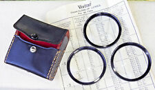 Set of Three Vintage Vivitar 55mm Coated Close Up Lens with Case Nice! NR!