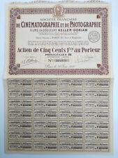 Action et titre SOC.FRANCAISE DE CINEMATOGRAPHIE ET PHOTOGRAPHIE 1929