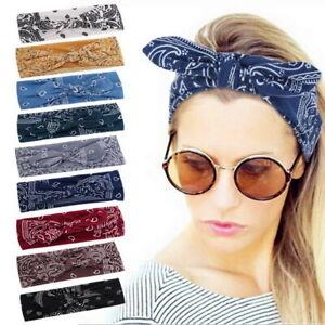 Women Headband Twist Hairband Cross Tie Wide Headwear Hair Band Hoop Bow Knot