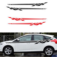 2X Car Racing Long Stickers Stripe Graphics Side Skirt Body Vinyl Decal Sticker