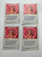 4x Vintage Playset Circle of Protection RED MTG Revised Magic the Gathering