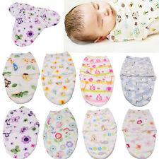 UK Soft Baby NewBorn Baby Infant Swaddle Wrap Blanket Sleeping Bag For 0-6Months