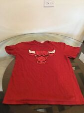 Chicago Bulls Red Logo T-Shirt Large Good Condition