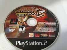 Naruto: Ultimate Ninja 3 (Sony PlayStation 2, 2008) Loose Disc Tested (BK2)