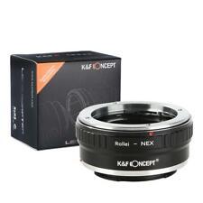 K&F Adapter Rollei QBM Objektiv auf Sony E NEX 3 5 6 7 a6000 a5000 a7 a7r a7r II