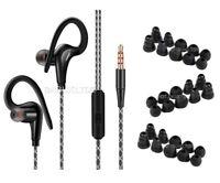 Hook Over Ear Headphone Sports Gym Jogging Running In Ear Earphones + Earbuds