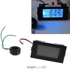 Digital AC 300V 100A LCD Dual Panel Volt Amp Combo Meter +CT 110V 220V 240V