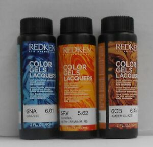 REDKEN 5TH Avenue NYC No Ammonia COLOR GELS LACQUER Hair Color ~ 2 fl oz