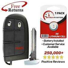 4 Button Oem 2011-2015 Dodge Charger Smart Proximity Remote Key W//Uncut Emergency Key