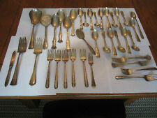 Vintage Silverplate Flatware Lot For Crafts /& Use 15 Lbs.