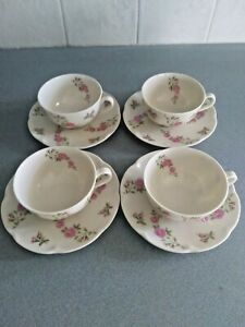 Theodore Haviland Delaware (4 Sets) Coffee Cups & Saucers - USA - Excellent