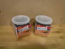 Set of 2 Wobble Wedge - Soft Black - Restaurant Table Shims - 30 Piece Jar each