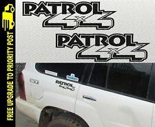 Patrol Nissan Gu Stickers 4x4 Decal Diesel Turbo Gq Ute PAIR