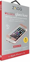 ZAGG InvisibleShield iPhone 8 7 6s 6 Glass Luxe Screen Protector Guard Rose Gold