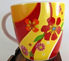 STARBUCKS, Mug / Tea Cup, Red/Yellow/Orange Tropical Floral Mug, No Flaws, 2007